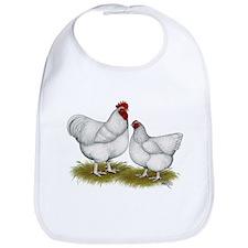 Orpington White Chickens Bib