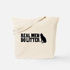 Real Men Do Litter Tote Bag