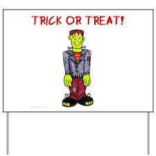 Trick or Treat Frankenstein Yard Sign