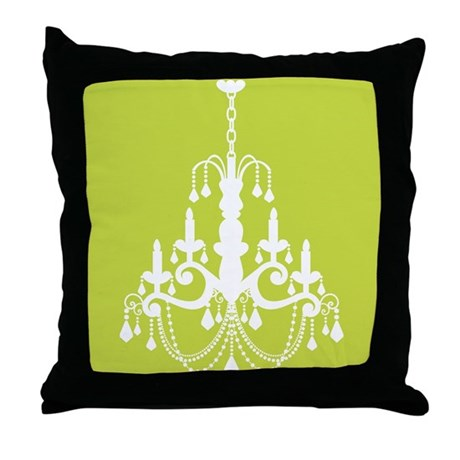Elegant Chandelier Throw Pillow