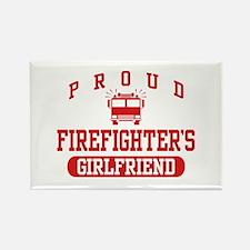 Proud Firefighter's Girlfriend Rectangle Magnet