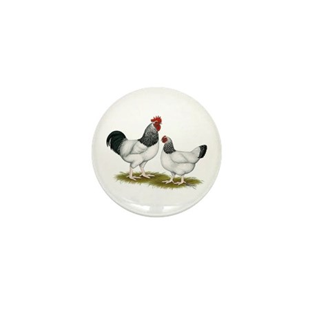 Sussex Light Chickens Mini Button (10 pack)