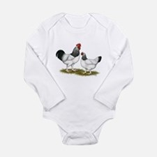Sussex Light Chickens Long Sleeve Infant Bodysuit