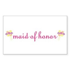 Maid of Honor Rectangle Decal