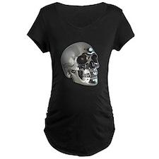 Silver Metalic Skull T-Shirt