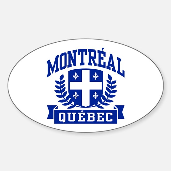 Montreal Quebec Sticker (Oval)