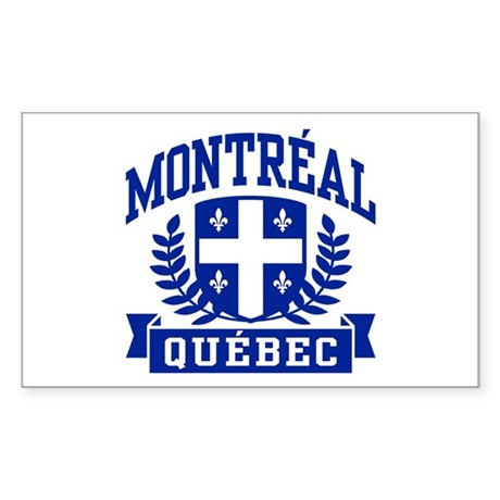Montreal Quebec Sticker (Rectangle)