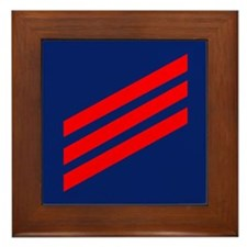 Coast Guard Fireman Framed Tile