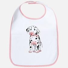 Dalmatian Puppy Cartoon Bib