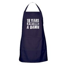 18 years of not giving a damn Apron (dark)