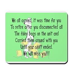 Retired Nurse Story Art Mousepad