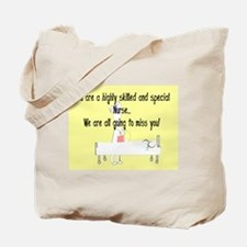 Retired Nurse Story Art Tote Bag