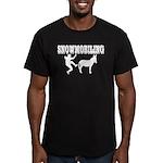 Snowmobiling Kicks Donkey Men's Fitted T-Shirt (da