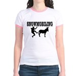 Snowmobiling Kicks Donkey Jr. Ringer T-Shirt