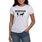 Snowmobiling Kicks Donkey Women's T-Shirt