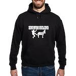 Snowmobiling Kicks Donkey Hoodie (dark)