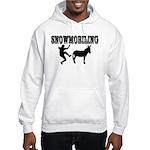 Snowmobiling Kicks Donkey Hooded Sweatshirt