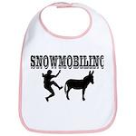 Snowmobiling Kicks Donkey Bib