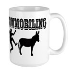 Snowmobiling Kicks Donkey Large Mug