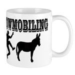 Snowmobiling Kicks Donkey Mug