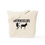 Snowmobiling Kicks Donkey Tote Bag