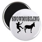 Snowmobiling Kicks Donkey Magnet