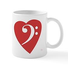 Bass Clef Heart Mug