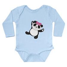 Happy Panda Long Sleeve Infant Bodysuit