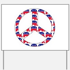 Republican Peace Sign Yard Sign