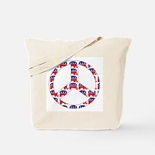 Republican Peace Sign Tote Bag