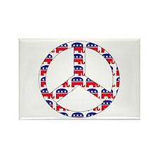 Republican Peace Sign Rectangle Magnet