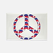 Republican Peace Sign Rectangle Magnet