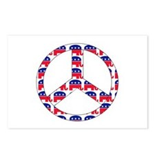 Republican Peace Sign Postcards (Package of 8)