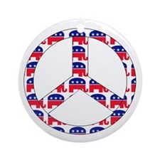 Republican Peace Sign Ornament (Round)