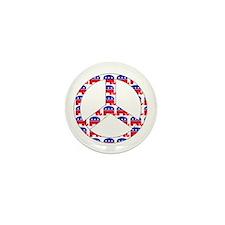 Republican Peace Sign Mini Button