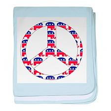 Republican Peace Sign Infant Blanket