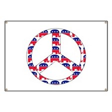 Republican Peace Sign Banner