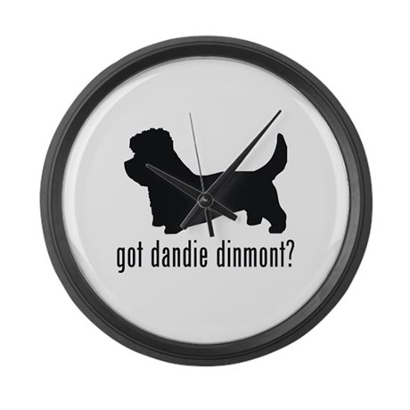 Dandie Dinmont Large Wall Clock