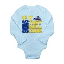 Funny Polaris snowmobile Long Sleeve Infant Bodysuit
