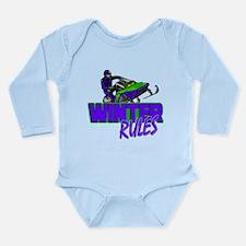 Winter Rules Long Sleeve Infant Bodysuit