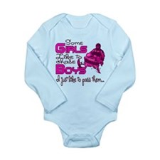 Some Girls...Snowmobile Long Sleeve Infant Bodysui