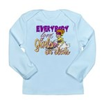 Girls on Sleds Long Sleeve Infant T-Shirt