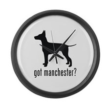 Manchester Terrier Large Wall Clock