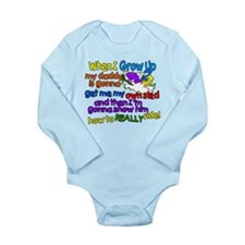 Teach Daddy Long Sleeve Infant Bodysuit