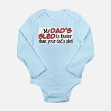 My Dad's Sled Long Sleeve Infant Bodysuit