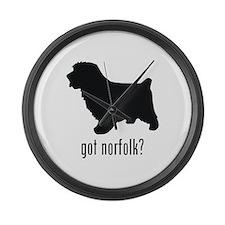 Norfolk Terrier Large Wall Clock