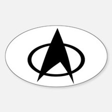 Star Trek Logo Sticker (Oval)