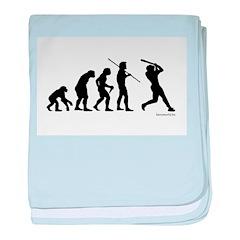 Baseball Evolution Infant Blanket