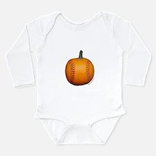 Baseball Pumpkin Long Sleeve Infant Bodysuit