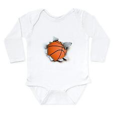 Basketball Burster Long Sleeve Infant Bodysuit